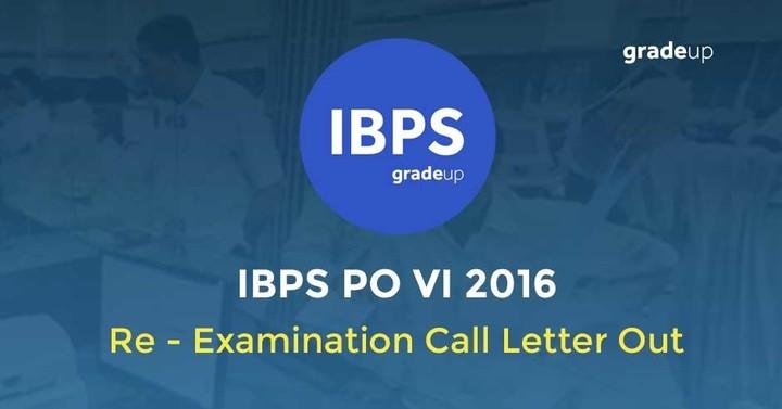 IBPS PO VI 2016: Re - examination Call Letter