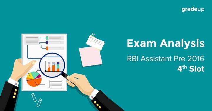 RBI Assistant Preliminary Exam 2016 4th Slot Analysis