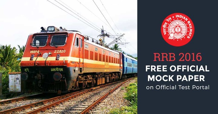 RRB 2016 Official Mock Paper on Official Test Portal: Attempt Here