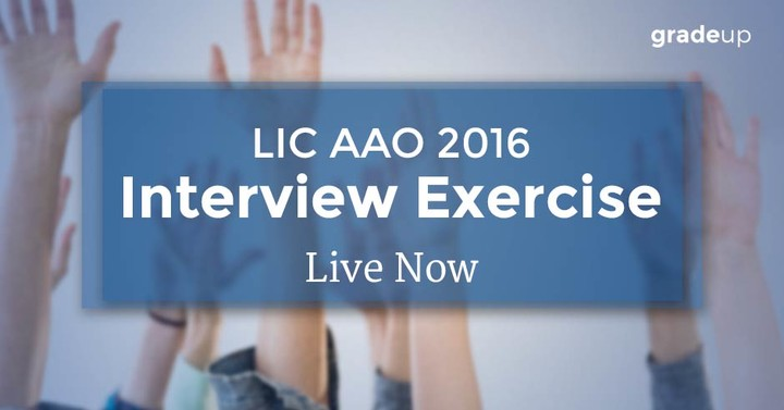 LIC AAO 2016 Interview Exercise Day 2 - LIVE Now!