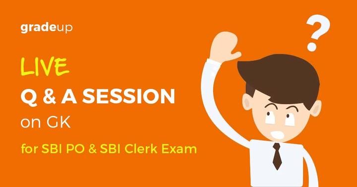 GK Live Session for SBI Clerk & SBI PO 2016 Exam – Now Live!