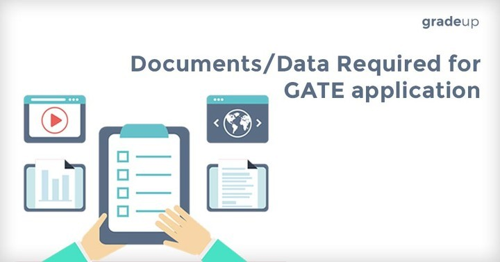 Documents/Data required for GATE application