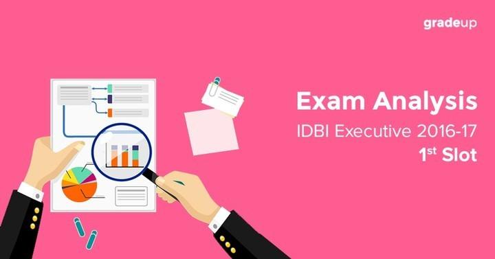 IDBI Executive Exam Analysis 2016-17 1st Slot