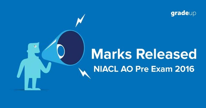 NIACL AO Preliminary Exam 2016 marks released