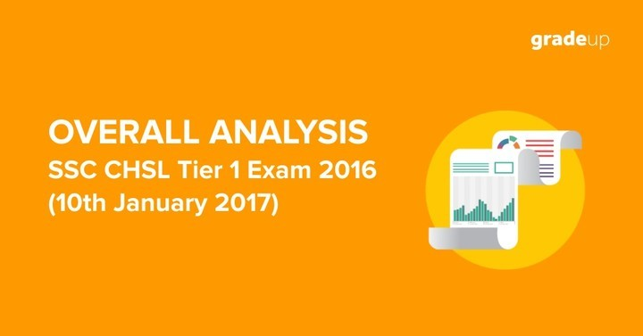 SSC CHSL 2016- Tier I Exam Over all Analysis 10th January 2017