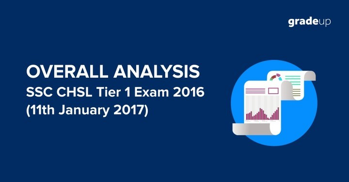 SSC CHSL 2016- Tier I Exam Over all Analysis 11th January 2017