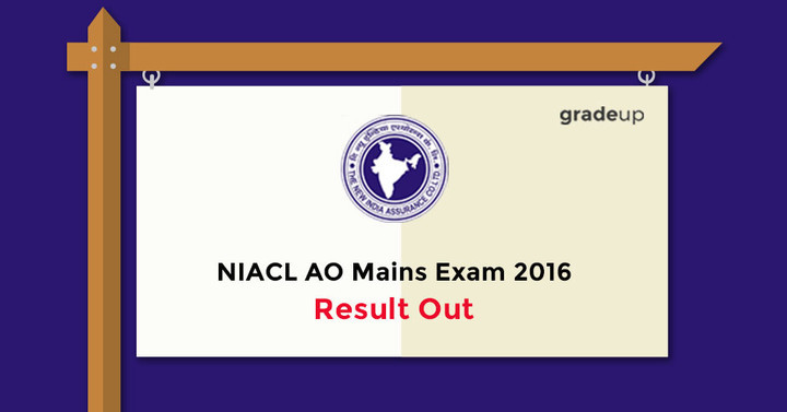 NIACL AO Mains Exam 2016 Result Out