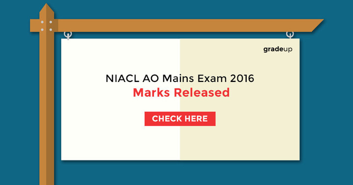 NIACL AO Mains Exam 2016 marks released