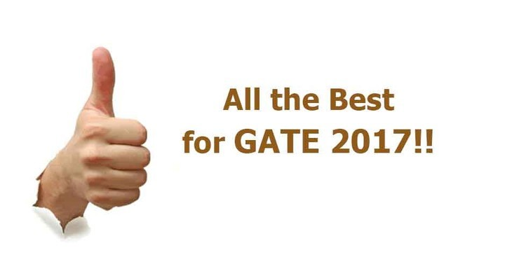 Best Wishes for GATE 2017 Exam