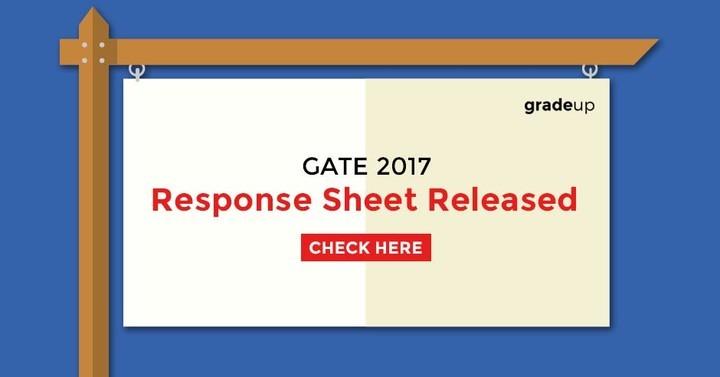 GATE 2017- Response Sheet Released