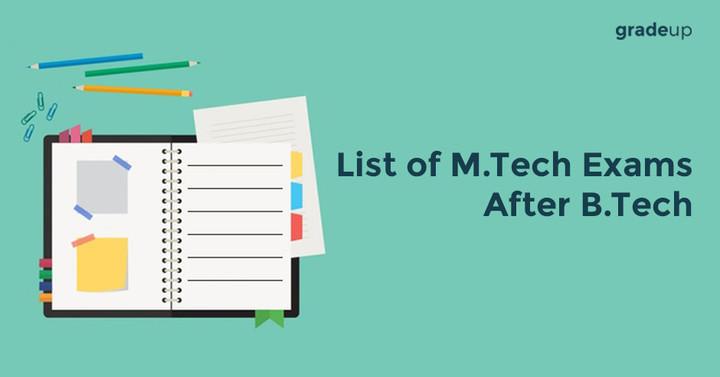 List of M.Tech Exams After B.Tech