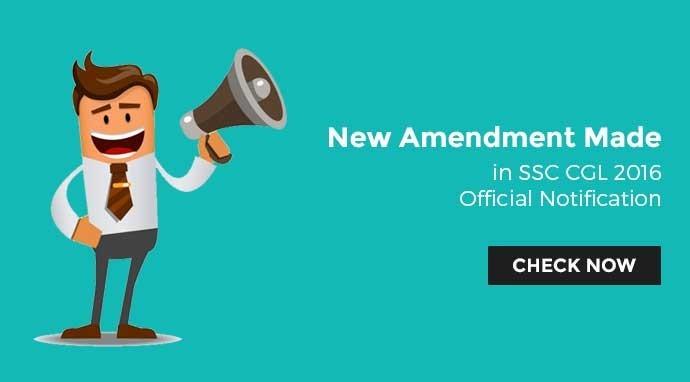 एसएससी सीजीएल 2016 में नए बदलाव की आधिकारिक सूचना जारी