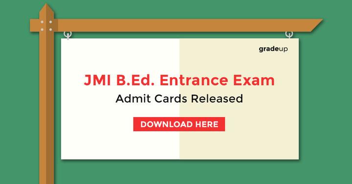 जेएमआई बीएड प्रवेश परीक्षा प्रवेश पत्र घोषित 2017- यहां डाउनलोड करें