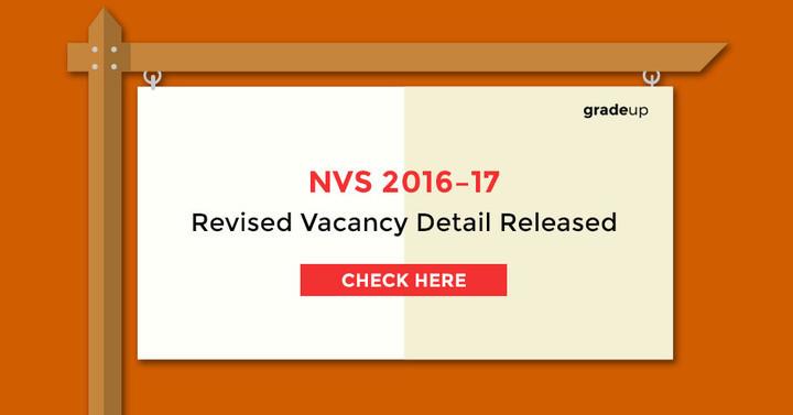 एनवीएस टीजीटी और पीजीटी संशोधित रिक्ति विवरण 2016-17 जारी किए गए - यहां देखें