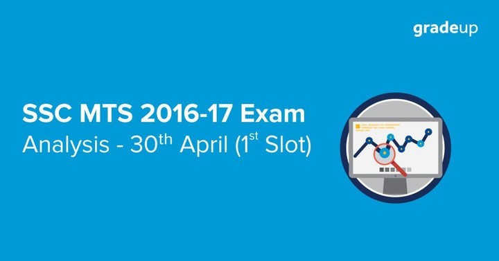 SSC MTS Exam Analysis 2017 Tier 1: 30th April Slot 1 (Morning Shift)