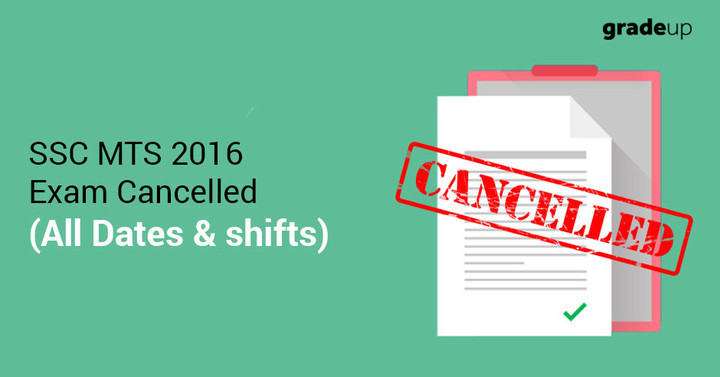 SSC MTS 2016 - 17 Exam (All Dates) : Cancelled