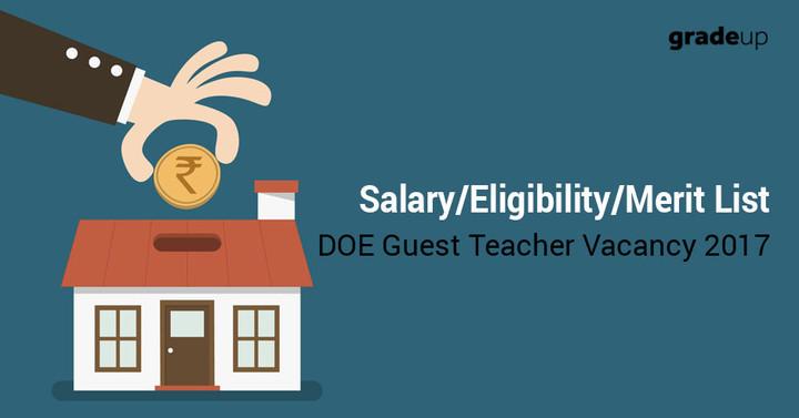 DOE (EVGC) Teacher Vacancy 2017- Merit List/Eligibility/Salary