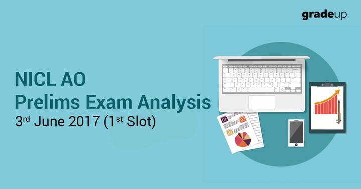 एनआईसीएल ए.ओ. परीक्षा विश्लेषण 2017 : 3 जून (पहला स्लॉट) एवं अपेक्षित कटऑफ