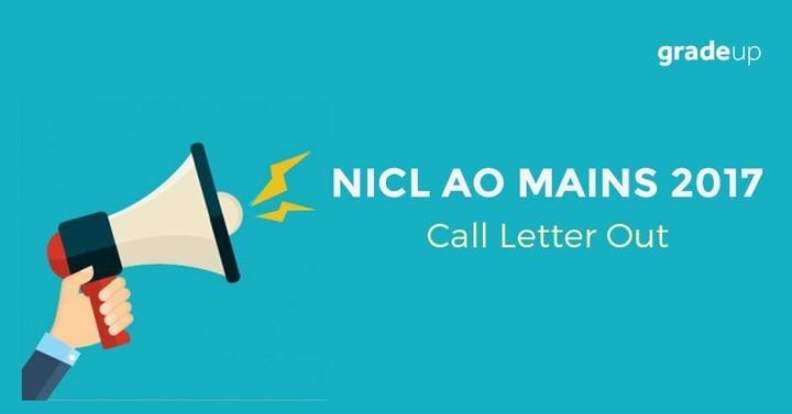 एनआईसीएल एओ मुख्य परीक्षा प्रवेश पत्र 2017 घोषित, कॉल लेटर यहां से डाउनलोड करें !
