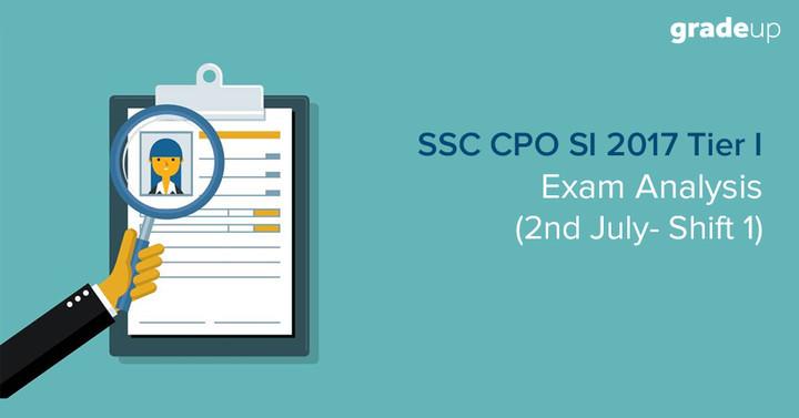 एसएससी सीपीओ परीक्षा विश्लेषण: 2nd जुलाई शिफ्ट  1