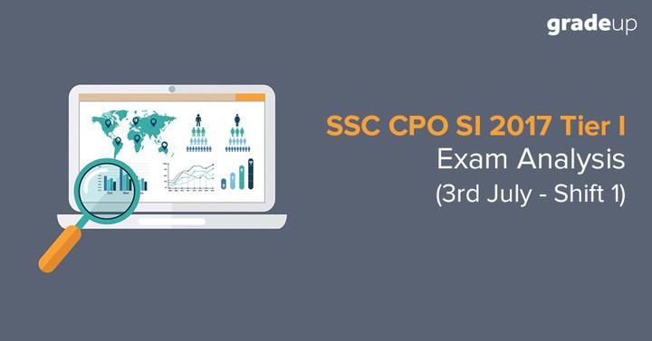 एसएससी सीपीओ परीक्षा विश्लेषण: 3rd जुलाई शिफ्ट  1