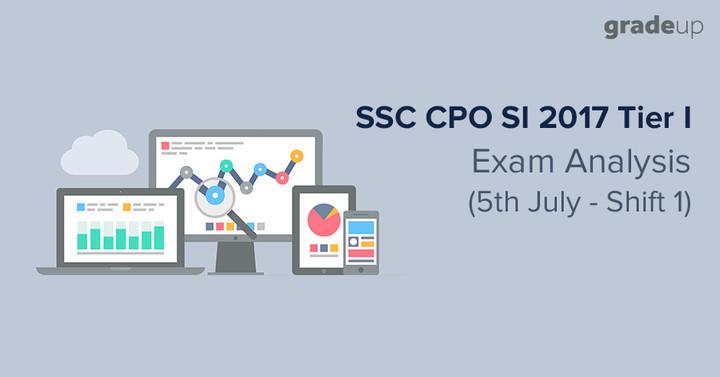 एसएससी सीपीओ परीक्षा विश्लेषण: 5th जुलाई शिफ्ट  1