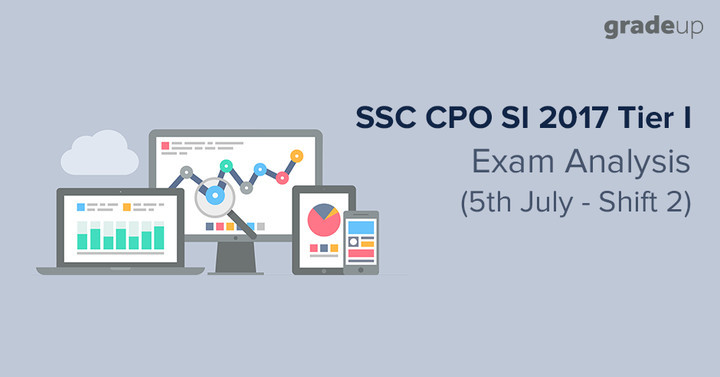 SSC CPO Exam Analysis 2017 Tier 1: 5th July Shift 2