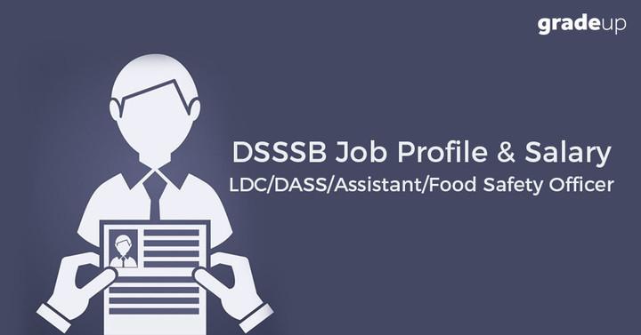 DSSSB जॉब प्रोफाइल एवं वेतन LDC/DASS/Assistant/Food Safety Officer 2017