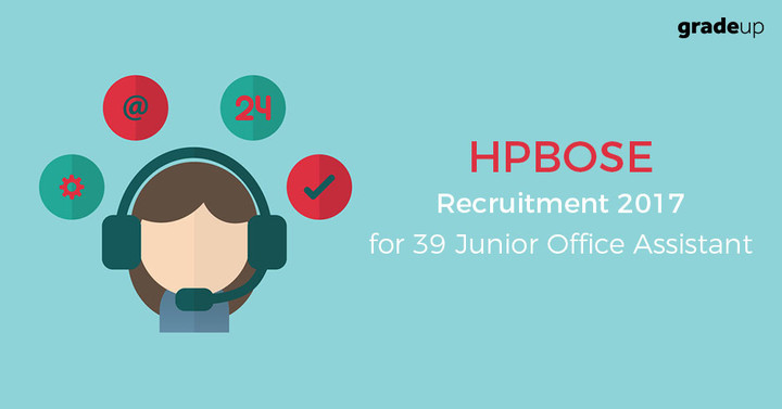 HPBOSE Recruitment 2017 Apply Online for 39 Junior Office Assistant