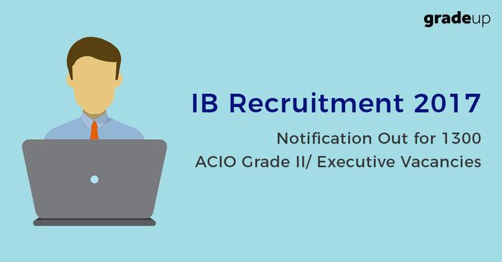 IB सहायक केन्द्रीय इंटेलीजेंस अधिकारी ग्रेड II 1300 भर्तियाँ जारी