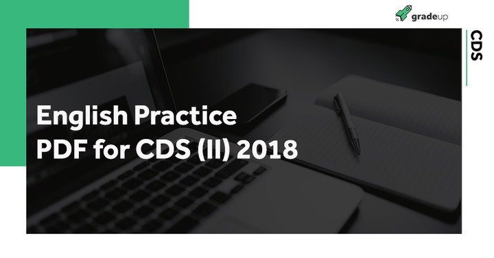 Download English Practice PDF for CDS 2018