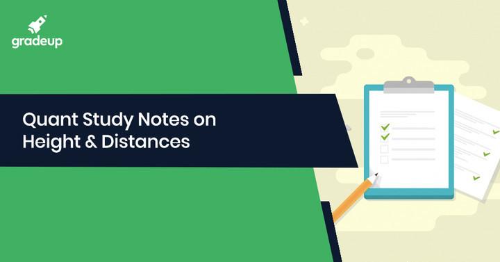 ऊँचाई एवं दूरी पर आधारित महत्वपूर्ण नोट्स एवं शार्ट ट्रिक्स: भाग – 3