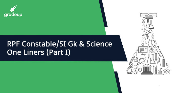 RPF कांस्टेबल/एसआई जीके & साइंस वन लाइनर्स(भागI)