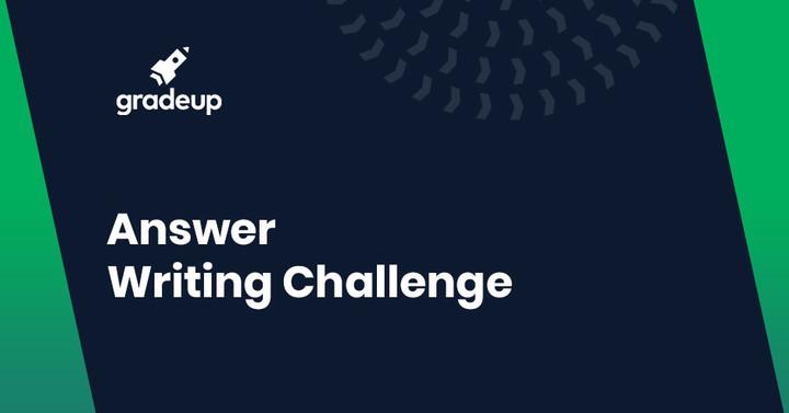 Answer writing challenge : Indian Economy.