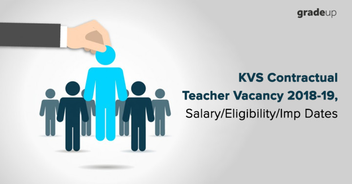 KVS Contractual Teacher Vacancy 2018-19, Salary/Eligibility/Dates