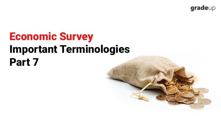 आर्थिक सर्वेक्षण महत्वपूर्ण टर्मिनोलोजी भाग 7