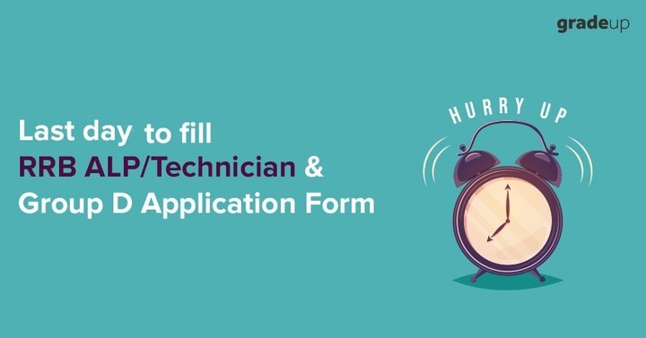 Last Day to submit RRB ALP/Technician & Group D Online Application Form 2018