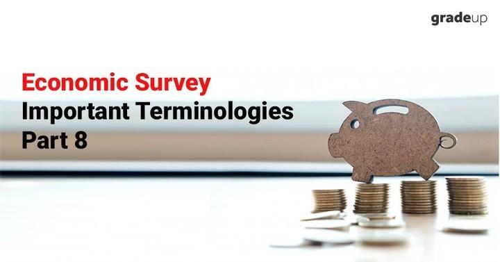 आर्थिक सर्वेक्षण महत्वपूर्ण टर्मिनोलोजी भाग 8