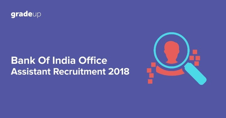 Bank of India Office Assistant Recruitment 2018, Download Application Form!