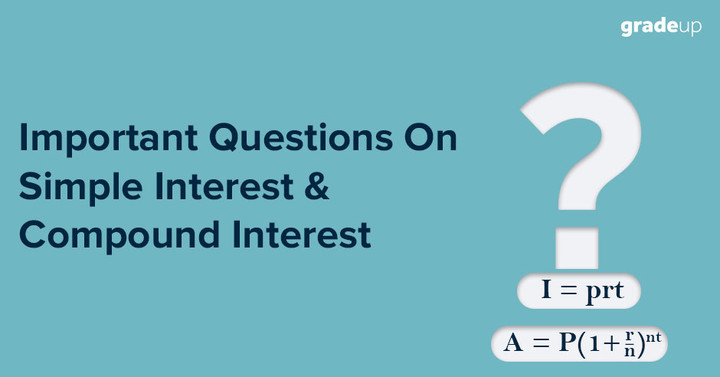 Important Questions On Simple Interest and Compound Interest