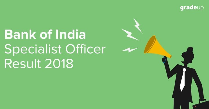 Bank of India Specialist Officer 2018 Result and Cutoff , Check Here !