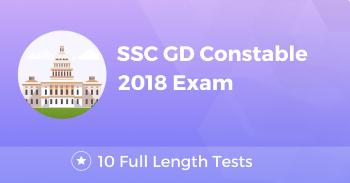 SSC GD Constable 2018 Online Test Series