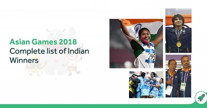 Asian Games 2018: Complete list of Indian Winners