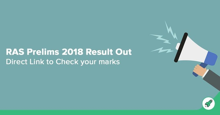 RPSC RAS Result 2018, Check Your RAS Prelims Result here