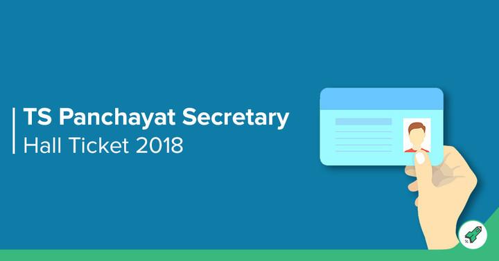 TS Panchayat Secretary Hall Ticket 2018 Out: Download Junior
