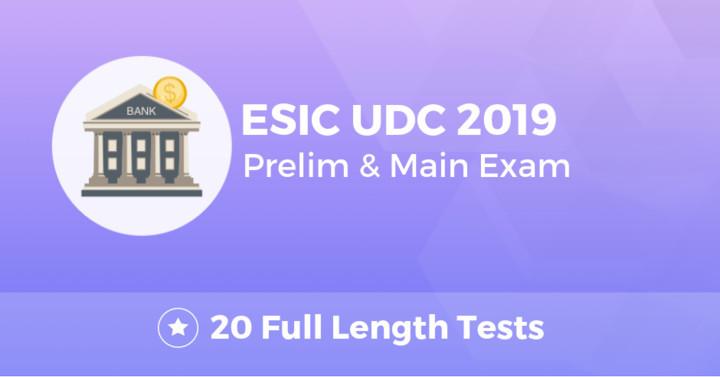 ESIC UDC Combo 2019 Online Test Series