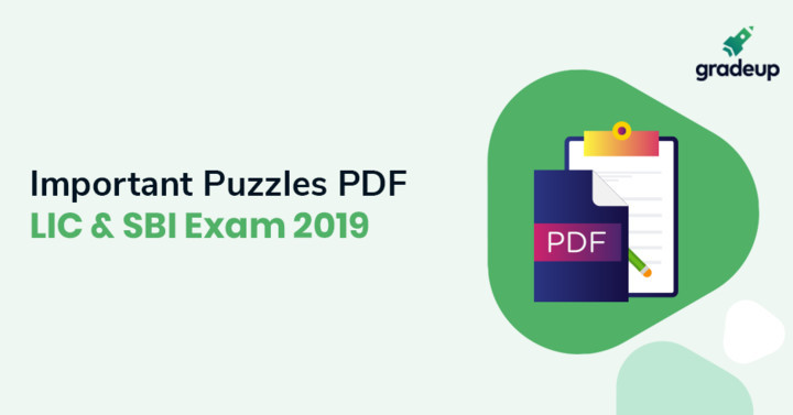 Important Puzzles for SBI PO & LIC AAO 2019, Download PDF