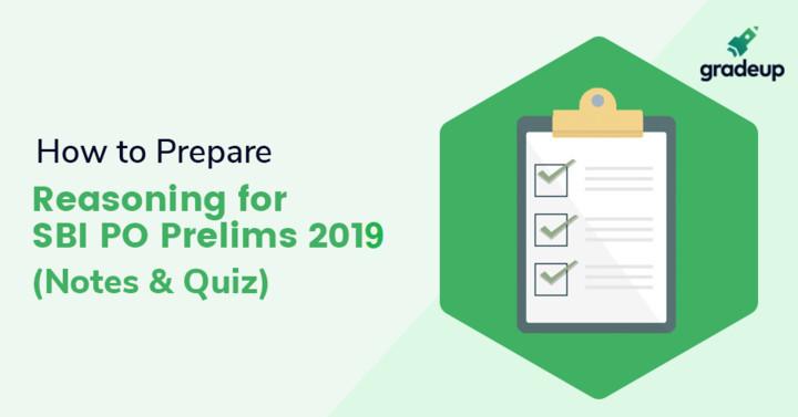 एसबीआई पीओं प्रारंभिक परीक्षा 2019 के लिये तार्किक क्षमता भाग की तैयारी कैसे करें