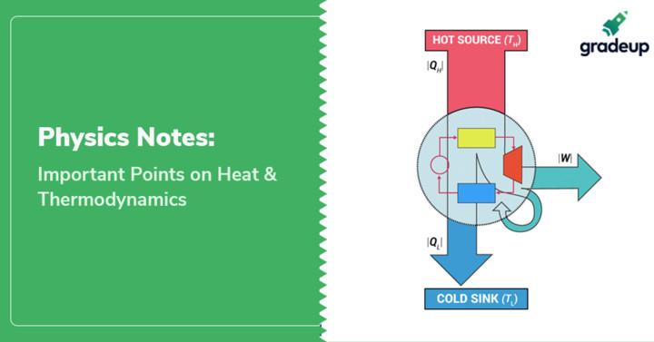 भौतिक विज्ञान के नोट्स : हीट और थर्मोडायनैमिक्स के महत्वपूर्ण तथ्य