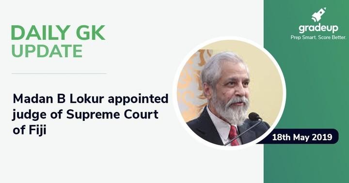 डेली जी.के. अपडेट: 18 मई 2019